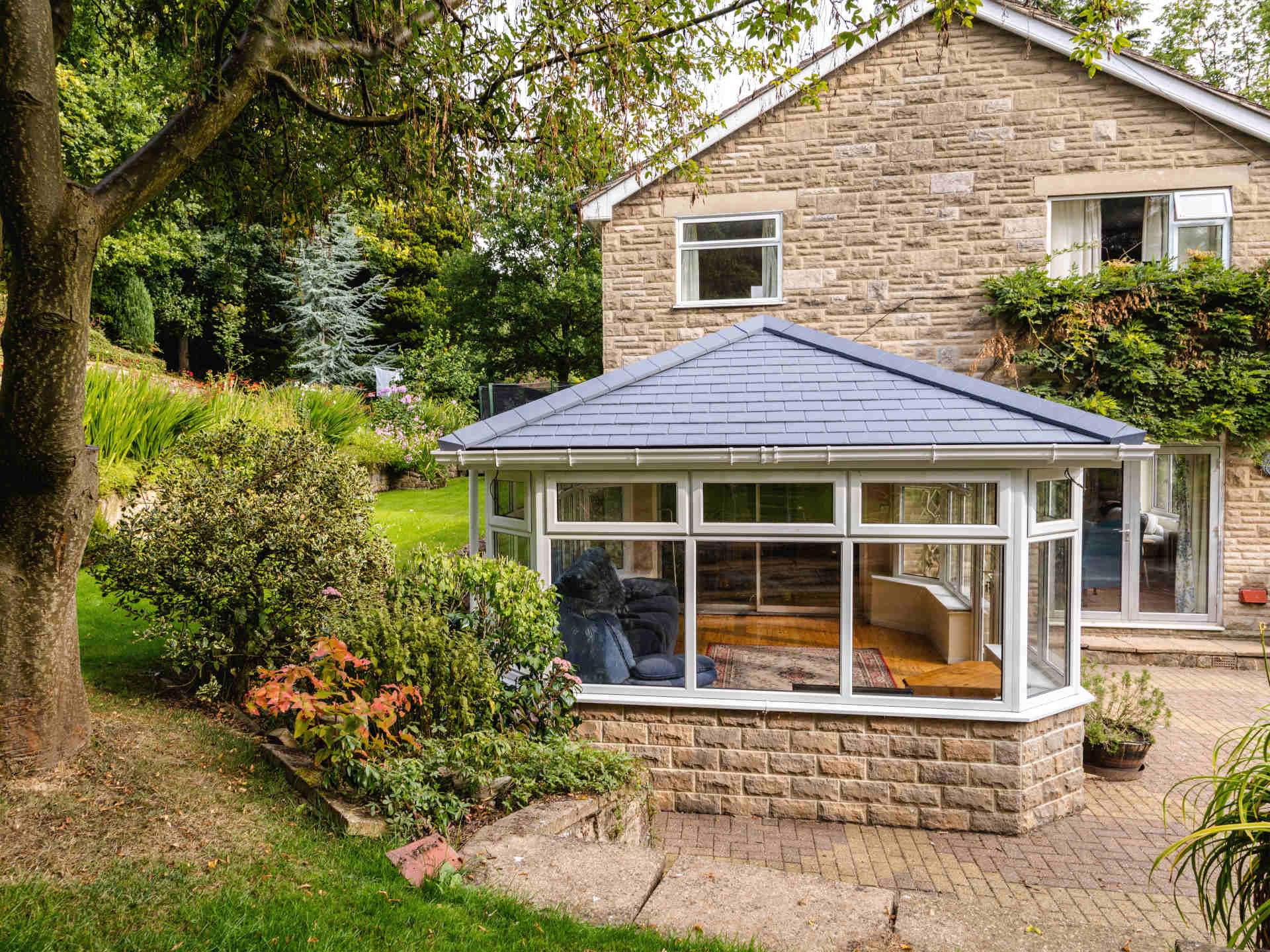 a new conservatory extension on a home